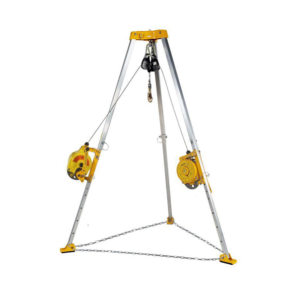 Confined Space Rescue Tripod with Self-lock Device