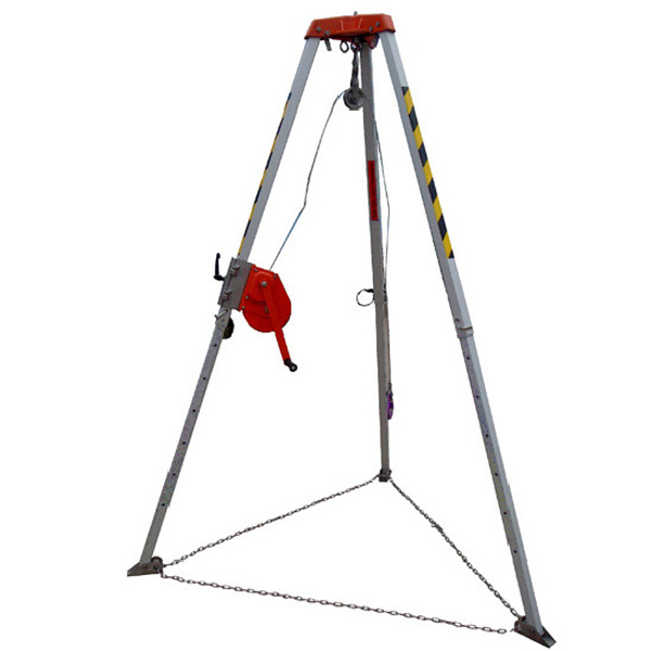 Mining Coal Safety Guard Aluminum Rescue Tripod with Winch