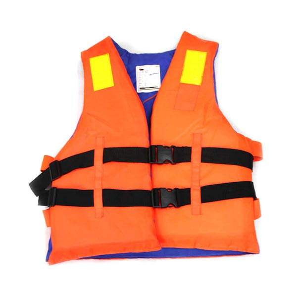 Customized Orange Reflective Life Vest with Lifesaving Whistle