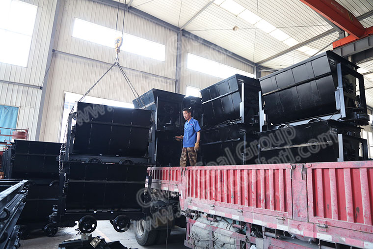 China Coal Group Sent A Batch Of Bucket Tipping Mine Car To Jiangxi Province