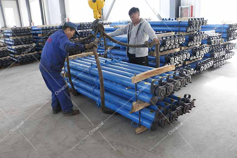 A Batch Of Mining Single Hydraulic Props Of China Coal Group Sent To Shanxi Province