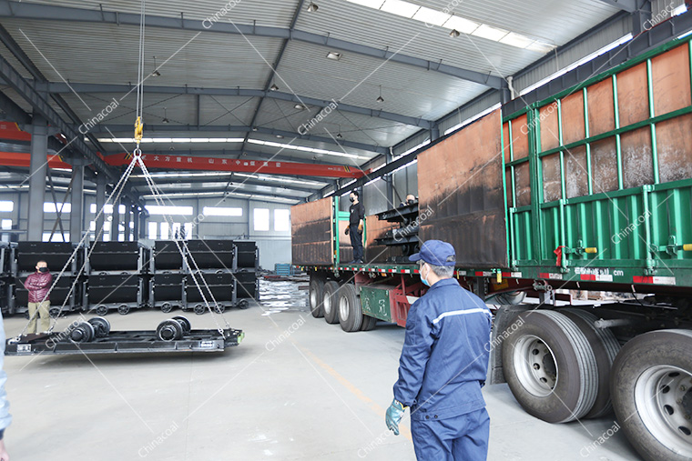 China Coal Group A Batch Flat Cart And Miner Equipment Sent Separately Shanxi And Anhui Province